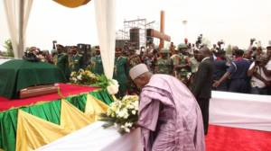 Namadi Sambo, pays his last respect