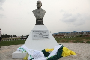 ojukwu's statue at the new convention centre in owerri