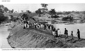 Construction-of-the-Kano-Lagos-railway-in-progress-near-Kaduna-in-1910