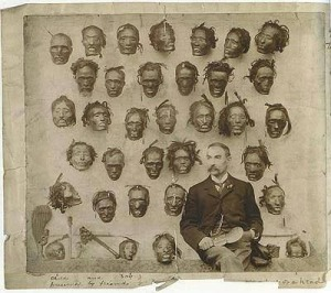 Lord Lugard, who named Nigeria after a suggestion from his wife, posing in front of decapitated Africans following a revolt. Forgive them Mother, for they know what they do. This is sick No words